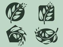 Branch logos. Set. Vector illustration Royalty Free Stock Photos