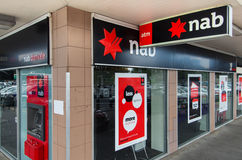 Branch of the National Australia Bank in Melbourne. Branch of the National Australia Bank at Tunstall Square Shopping Centre in the Melbourne suburb of East royalty free stock photography