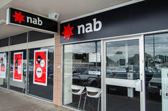 Branch of the National Australia Bank in Melbourne Stock Photography