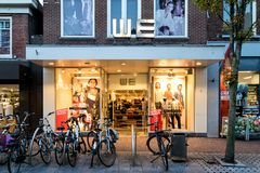WE branch in Sneek, the Netherlands. WE has approximately 240 shops and 3,000 employees in the Netherlands, Belgium, Germany, France, Luxembourg, Austria and stock photo