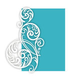 Branch-swirl on blue. Elegant swirl element. Vector file (CDR 9) included effect of shadow Stock Photography