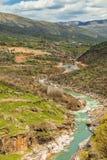 Branch of Tigris river in Iraq. Beauty of nature in Kurdistan region in Iraq near Erbil city Royalty Free Stock Image