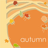 Branch of tree, autumn leaf fall Stock Image