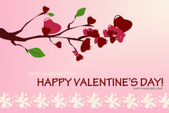 Branch Valentine Card Stock Photo