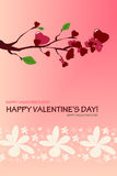 Branch Valentine Card Stock Image