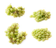 Branch of the white grape isolated Stock Photos