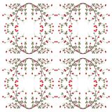 Branch wild rose pattern Stock Photo