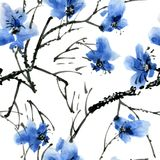 Branche d'arbre de fleur Image libre de droits