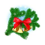 Branche d'arbre de Noël Images libres de droits