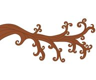 Branche d'arbre nue de vecteur Illustration de vecteur de branche d'arbre Photo libre de droits