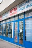Branche d'assurance d'Astra de Roumain Images libres de droits
