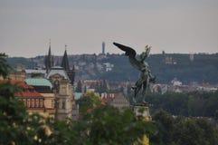 Branche d'or au-dessus de la ville photo libre de droits