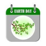 Branche de jour de terre - illustration Image stock