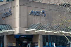 Branche de la banque d'ANZ à Melbourne, Australie Photo stock