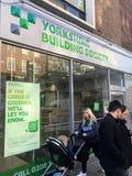 Branche de la société d'investissement et de crédit immobilier YBS de Yorkshire photos libres de droits
