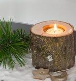 Branche de Noël, l'atmosphère romantique Images stock