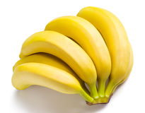 Branche des bananes d'isolement sur le blanc images libres de droits
