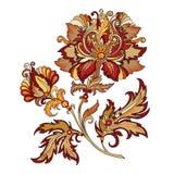 Branche des fleurs dans le style baroque Photographie stock libre de droits