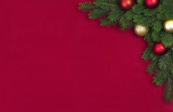 Branche faisante le coin de sapin de Noël Images stock