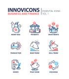Branche moderne icônes plates de conception, pictogrammes de bureau et d'activité réglés illustration stock