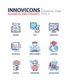 Branche moderne icônes plates de conception, pictogrammes de bureau et d'activité réglés Photographie stock