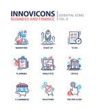 Branche moderne icônes plates de conception, pictogrammes de bureau et d'activité réglés Photos stock