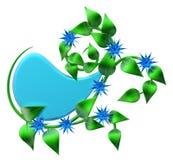 Branche verte abstraite avec des feuilles comme décoration Photographie stock libre de droits