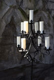 Branched iron candelabra Royalty Free Stock Photography