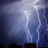Branched lightning Stock Photos