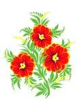 Branchement abstrait de fleurs Illustration Stock