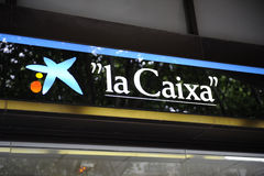 Branchement central de côté de Caixa de La dans Palma Images libres de droits