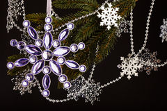 Branchement d'arbre de Noël photographie stock