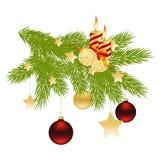 Branchement de Noël. illustration de vecteur