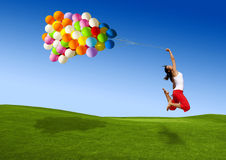 Brancher avec des ballons photo stock