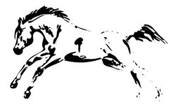 Brancher de cheval de vecteur Photo stock