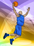 Brancher de joueur de Bastketball Photo stock
