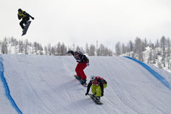 Brancher de Snowboarder Photo stock
