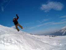 Brancher de Snowborder Photos stock