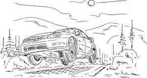 Brancher de véhicule de rassemblement illustration de vecteur