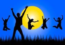Brancher heureux des jeunes illustration de vecteur