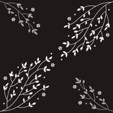 Branches. Decorative design with branches and flowers Royalty Free Illustration