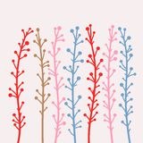 Branches. Vector illustration; flora design element Stock Photography