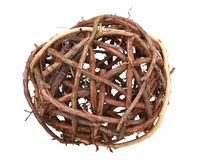 Branches ball. A ball made from flexible branches Royalty Free Stock Photography