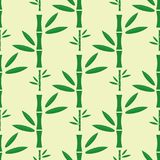 Bamboo stem seamless pattern vector illustration. Royalty Free Stock Photography