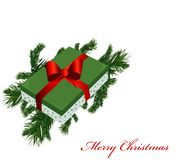 Branches and boxes with gifts Royalty Free Stock Images