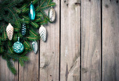 Branches with Christmas decorations Royalty Free Stock Images