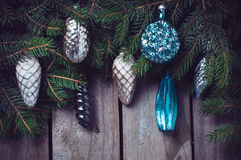Branches with Christmas decorations Royalty Free Stock Photo