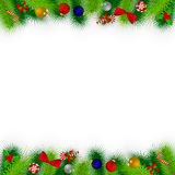 Branches of Christmas tree decorated Royalty Free Stock Photography