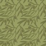 Branches d'olivier sans couture de modèle Rétro texture décorative b Photographie stock libre de droits