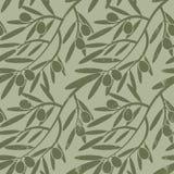 Branches d'olivier sans couture de modèle Rétro texture décorative b Photographie stock